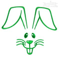 Cute Easter Bunny Embroidery Designs