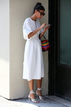 Off-the-shoulder styles and season-pushing sweatshirts and knits were popular as well.
