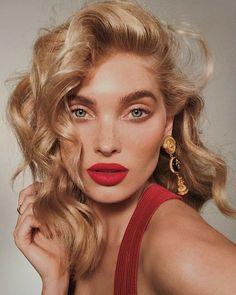 Elsa Hosk Is This Year's Wearer of the Victoria's Secret Fantasy Bra Beauty Makeup, Hair Makeup, Hair Beauty, Red Lip Makeup, Pataky Elsa, Red Hair, Blonde Hair, Anna Y Elsa, Natural Makeup