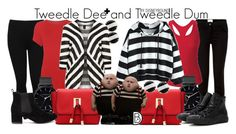 """Tweedle Dee and Tweedle Dum"" by leslieakay ❤ liked on Polyvore featuring M&Co, WearAll, Kate Spade, Black Diamond, The Horse, Converse, disney, disneybound and plussize"