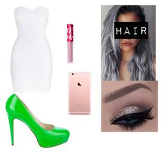 """""""Sin título #60"""" by lmariiax on Polyvore featuring moda, Hervé Léger, Brian Atwood y Lime Crime"""