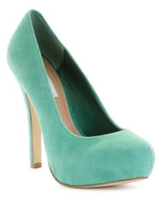 teal heel by JustcallmeLOVE