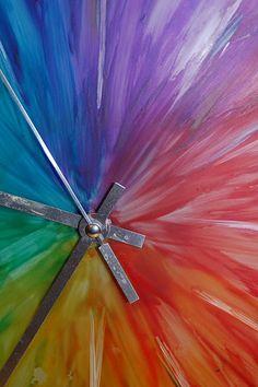 Rainbow Clock - I don't even like clocks. But I like rainbows.