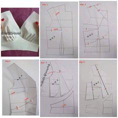 T Shirt Sewing Pattern, Pattern Drafting, Dress Sewing Patterns, Clothing Patterns, Line Design Pattern, Sewing Collars, Origami Patterns, Girls Frock Design, Modelista