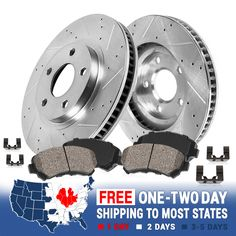 Front+Rear Brake Rotors /& Ceramic Pads For Hyundai Sonata