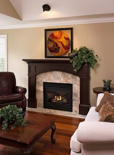 Decoration, Electric Fireplace With Mantel For Cheap Living Room Decorating…