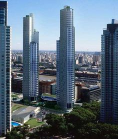Residential high rise buildings in the Madero district of Buenos Aires, Argentina