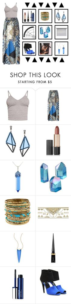 """""""The true enemy of humanity is disorder"""" by grungyprincess ❤ liked on Polyvore featuring BasicGrey, Etro, Issey Miyake, Estée Lauder, Simone I. Smith, Amrita Singh, Paperself, Alexis Bittar, Christian Louboutin and Clinique"""