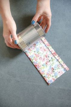 How to Make Fabric Wrapped Tin Cans
