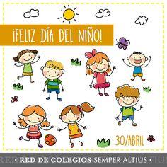 """""""El que escribe en el alma de un niño escribe para siempre."""" ¡Felicidades a todos los niños y niñas en su día! Nunca dejen de sonreír. #DíadelNiño #SemperAltius"""