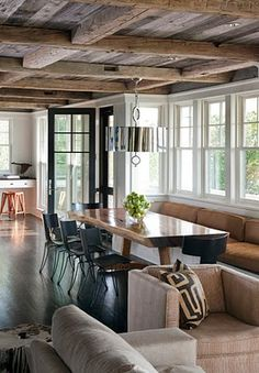 rustic modern - so love/want this kind of home...one day