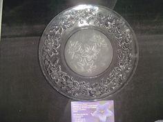 Princess House Crystal (#437) Fantasia Luncheon Plates  8 in.D  (4) #PrincessHouseCrystal