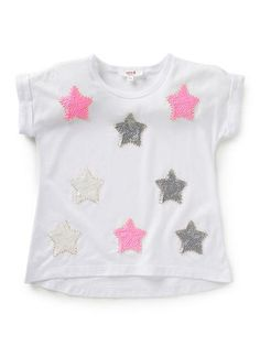 Girls Tops Tees  Shirts | Sequin Star Tee | Seed Heritage