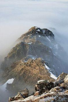 The Aonach Eagach Ridge, Glen Coe, Scotland