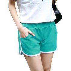 Shorts Women Summer 2017 Fashion Women's Casual Pockets Yo-Ga Loose Shorts Candy Colors #Affiliate