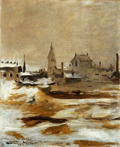 Manet_Effect of Snow at Petit-Montrouge, 1870, 61,5x60,5 cm, oil on canvas, National Museum of Wales