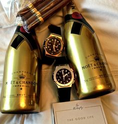 Moet et Chandon gold bottles