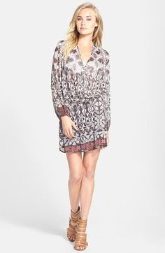 Wayf Long Sleeve Wrap Dress available at # Nordstrom $60.00