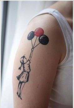 Very cute #tattoo of #baloons