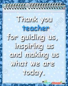 teacher message