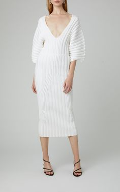 Ribbed Stretch-knit Pencil Dress by Cushnie Dress Outfits, Fashion Outfits, Sweater Dresses, Casual Street Style, Daily Fashion, Kids Fashion, Winter Fashion, Women's Fashion, Elegant Woman