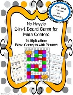 FREE: Want an easy-to-use center game that aligns to the exact learning objectives you're teaching? The 2 different games included in this set enable students to practice the basic concept of multiplication in a fun and engaging way!