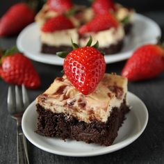 100% whole grain strawberry cheesecake brownies.