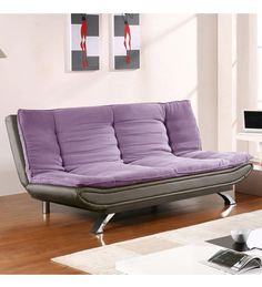 Edo Dual Tone Sofa cum bed-Fabic & Leather by Furny Online - Sofa Cum Beds - Furniture - Pepperfry Product