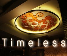 Use reclaimed rusty cogwheels and parts to recreate a large wall clock