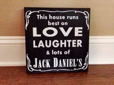 Jack Daniels Custom Wood Sign Stained and Hand by RusticStrokes