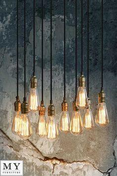 Thibault - Industrial Vintage Pendant Retro Chandelier Light - Bulbs included in Home, Furniture & DIY, Lighting, Ceiling Lights & Chandeliers | eBay