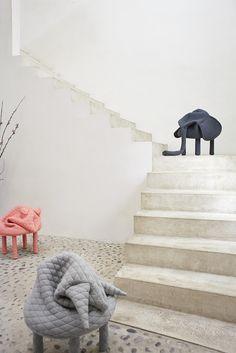 The Petstools stools by Hanna Ernsting. Credits : Ola Rindal