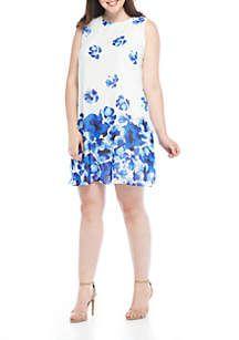 J Howard Plus Size Floral A-Line Dress | Belks | Dresses, Floral ...