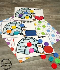 Preschool Shape Sorting - Arctic Animals Theme for Preschool activities Arctic Animals Activities - Planning Playtime Animal Activities For Kids, Winter Activities, Kindergarten Activities, Preschool Curriculum, Homeschool, Artic Animals, Nocturnal Animals, Penguins And Polar Bears, Antarctica