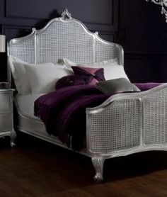 For The Bedroom On Pinterest Mauve Silver And White Bedding