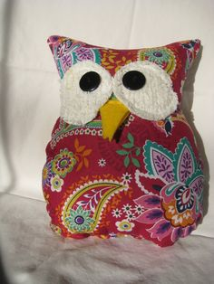Hooters Stuffed Owl Pillow Freida by sweetpitas on Etsy, $14.00