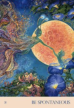"""Me & my boys dance in the stars & chase eachother! """"Be Spontaneous"""" Oracle Cards par Josephine Wall"""