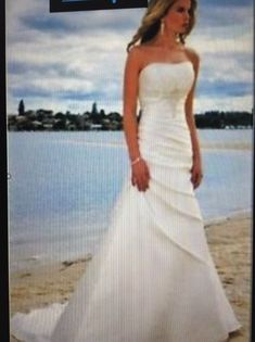 New Strapless Wedding Dress Size 16