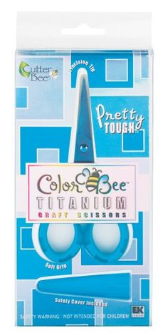 EK Success EKCB07 Blue Color Bee Titanium Craft Scissors
