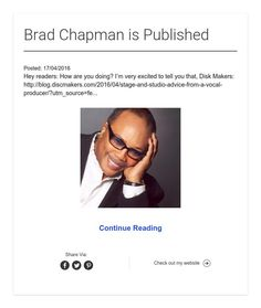 Brad Chapman is Published