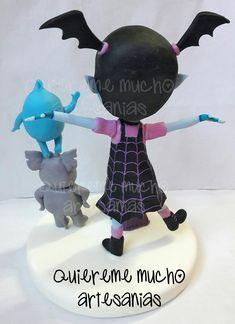 ADORNOS DE TORTA VAMPIRINA Y AMIGOS Clay Figures, Air Dry Clay, Photo Displays, Keepsakes, Cake Toppers, Fondant, My Design, Birthday, Party