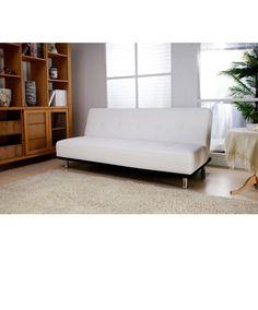 white futon sofa