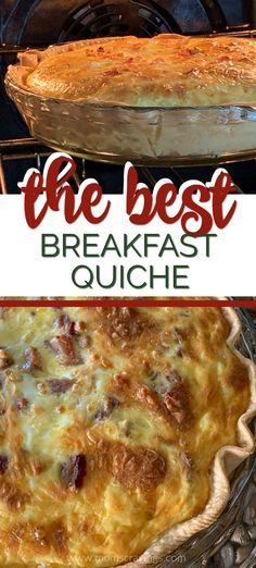 Need breakfast ideas? This is one of those quiche recipes, easy breakfast ideas that will surprise everyone. It's a crea Breakfast Quiche, What's For Breakfast, Breakfast Dishes, Breakfast Recipes, Panera Breakfast, Easy Breakfast Ideas, Meat Loaf Recipe Easy, Panera Bread Quiche Recipe, Best Easy Quiche Recipe