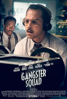 'Gangster Squad': New Movie Trailer and Posters: Ryan Gosling and Emma Stone Mickey Cohen, Sean Penn, Mafia Gangster, Gangster Movies, Ryan Gosling, Gangsters, Emma Stone, Michael Roberts, New Movie Posters