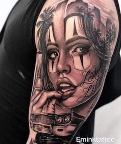 Payasa Tattoo, True Tattoo, Clown Tattoo, Chicano Art Tattoos, Chicano Drawings, Gangster Tattoos, Hippe Tattoos, Catrina Tattoo, Tattoo Studio