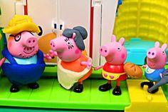 NEW Play Doh Magic Peppa Pig with Pig George Villa PlayDough Playset Pep...