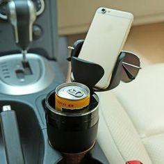 Above Edge Black Car Cup Holder Insert Drink Holder, Bottle Holders, Cup Holders, Napkin Holders, Cup Holder Insert, Mug Storage, Door Storage, Phone Organization, Phone Holder