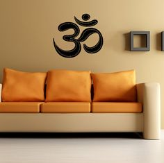 Housewares Wall Vinyl Decal Om Symbol Buddha Sacred Indian Design Interior Decor Sticker Buddhism Divine Buddhist Sign SV2353