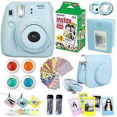 9754fa396 FujiFilm Instax Mini 8 Instant Film Camera Blue Instax Mini Film Twin Pack  20 Sheets Blue