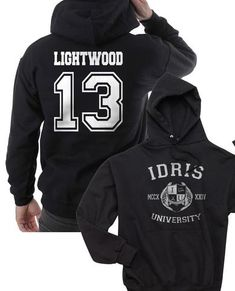 bde9ddc1f68de Lightwood 13 Idris University Unisex Pullover Hoodie Black - Meh. Geek - 1  Teen Tv